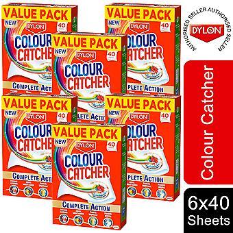 6 confezione Dylon Color Catcher Lenzuola lavanderia ad azione completa, 40 fogli