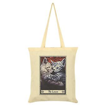Tarot mortal Los amantes Felis Tote Bag