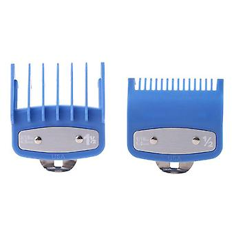 1pc/2pcs Professional Cutting Guide Comb Hair Clipper Limit Comb With Metal