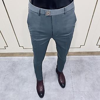 Mężczyźni&s Moda Business Casual Slim Dress Garnitur Spodnie