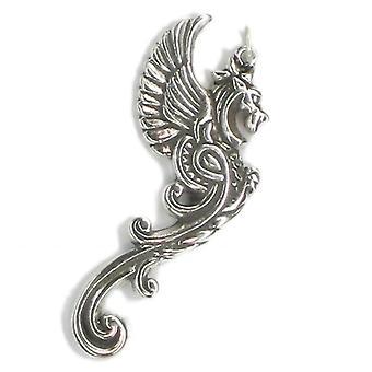 Dragon Sterling Sølv Vedhæng 0,925 x 1 meget store se Pix på notering