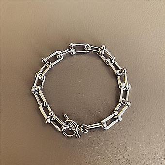 Baroque Irregular Imitation Pearls, Metal Link Chain Bracelets