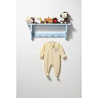 "The Essential One Baby Unisex Long Sleeve Cream ""i'm A Unicorn"" Sleepsuit."