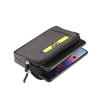 Multipurpose Horizontal Belt Case 2 Compartments Zipper for SAMSUNG GALAXY ON6 (2018)