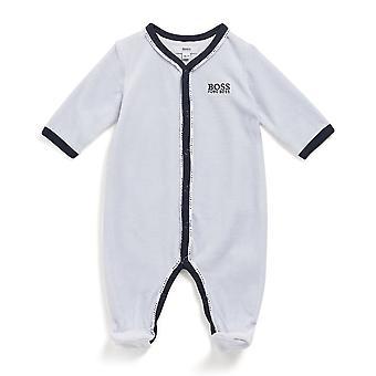 Hugo főnök baba fiúk világoskék bársony babygro j97163 771
