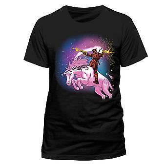 Deadpool Unisex Adult Unicorn T-Shirt