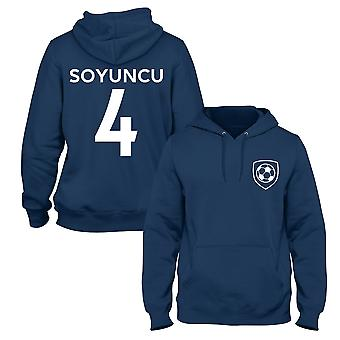 �a?lar S�y�nc� 4 Leicester Style Player Football Hoodie