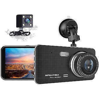 Dash Cam for Cars Front and Rear 1080P Full HD Dashcam, Dual Dash Cam