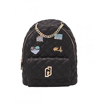 Backpack Liu-jo Backpack M Quilted Black Woman Bs21lj36 Aa1342
