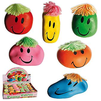 3-Pack StressBall Smiley Stress Relax Funny Face Clamping Ball Fidget Toy