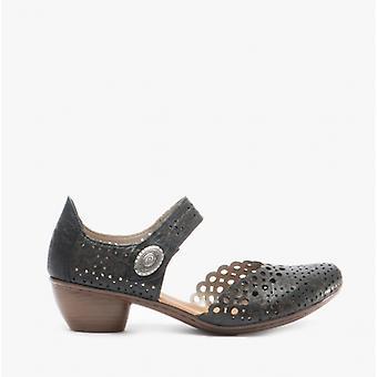 ريكر 43753 السيدات الجلود ماري جين أحذية سوداء