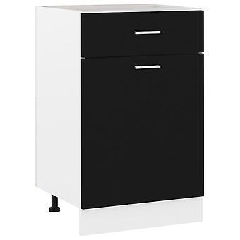 Drawer Bottom Cabinet Black 50x46x81.5 Cm Chipboard