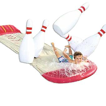 2 In 1 -lawn Water Slide And Bowling Game