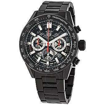 Tag Heuer Carrera Chronograph Automatic Black Skeleton Dial Men's Watch CBG2A90.BH0653