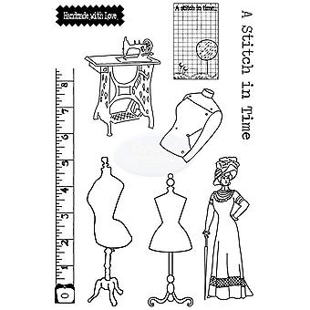 Polkadoodles Clear Stamp - Haberdashery A5