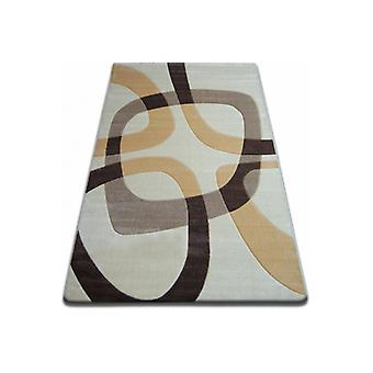 Rug FOCUS -  F242 caramel SQUARE cream