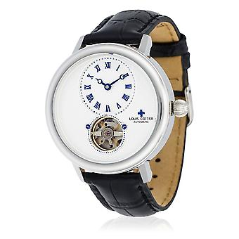 Watch Louis Cottier STORYMATIC Automatic 43 mm White silver case - black bracelet - HB34330C2BC1