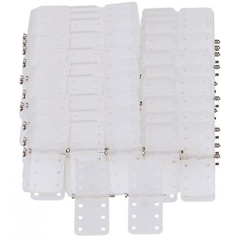 100 Pieces DIY RC Airplane Pinned Hinges Plastic and Metal Material Beige