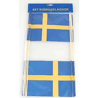Lippu Ruotsi 6-pakkaus 15x20 cm