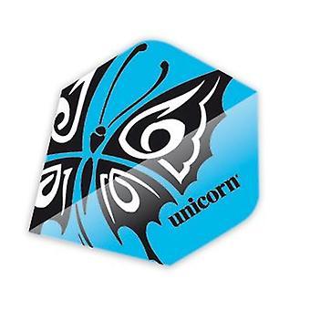 Unicorn Darts Core .75 Plus Flights Metallic Hologram Range - Butterfly