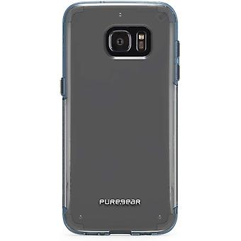 PureGear One Piece Slim Shell Case Pro for Samsung Galaxy S7 Edge - Clear/Blue