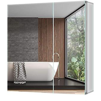 Pigeonwing bathroom cabinets mirror cabinet with large storage adjustable shelves made of eco