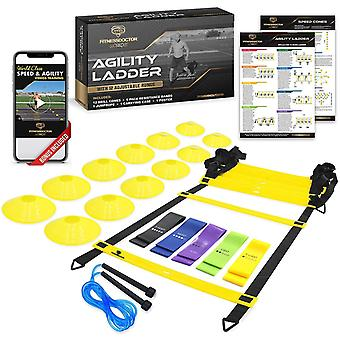 Gerui Ladder Agility and Speed Training Equipment Set for Improving Footwork, Football, Exercise, Workout