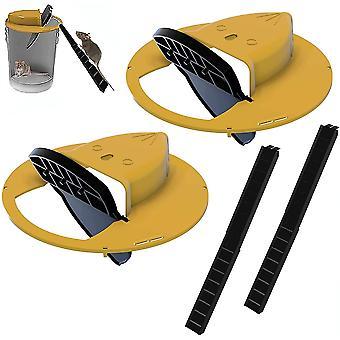 Flip N Slide Bucket Lid Mouse Rat Trap 2pcs 11294