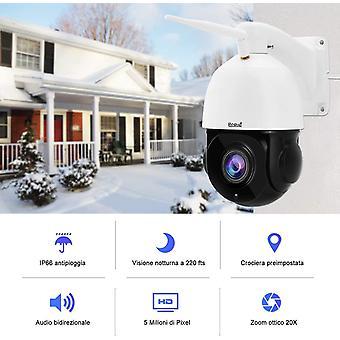FengChun berwachungskamera aussen WLAN,5MP PTZ Dome IP Kamera Outdoor Untersttzt 20x optischen Zoom,