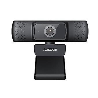 Ausdom Af640 Full HD 1080p פוקוס אוטומטי מצלמת אינטרנט עם רעש