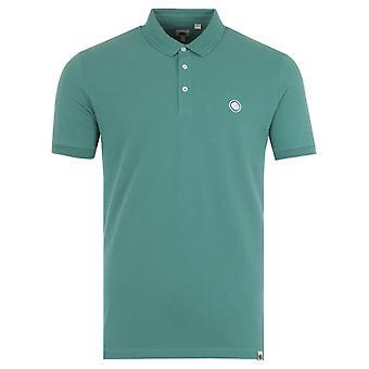 Pretty Green Crinkle Polo Shirt - Blue