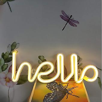 Led توقيع ضوء الحب مرحبا مصباح النيون