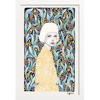 JUNIQE Print - Emilia - Dream World Affisch i blått & gult