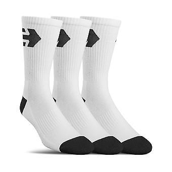 Etnies Direct 3 Pack Crew Socks in White
