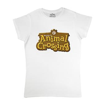 Animal Crossing Womens/Ladies 3D Logo Fitted T-Shirt