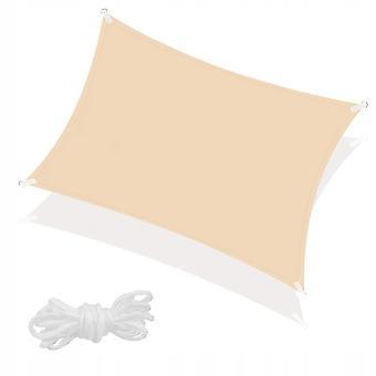 Schirmtuch 4 x 3 m - beige - mit Befestigungsseilen
