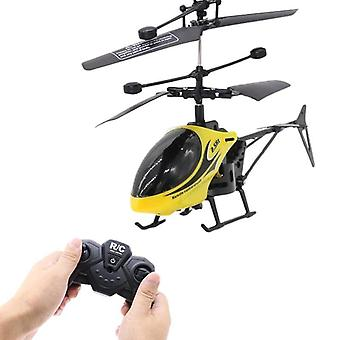 Rc helikopter drone med lys, elektrisk flyvende legetøj, radio fjernbetjening,