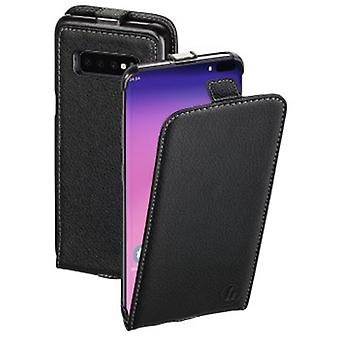Hama Smart -kotelon flip-kotelo Samsung Galaxy S10 + Mustalle