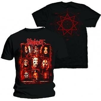Slipknot Rusty Face Mens Svart T-shirt: Stor