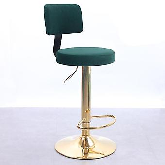 Restaurant High Back Round Metal Stainless Steel Bar Stool Chair