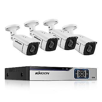 Sistema de cámara de seguridad para el hogar 8CH, vigilancia DVR + 4pcs 2MP Full HD vigilancia a prueba de intemperie al aire libre