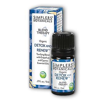 Simplers Botanicals Detox and Renew Oil, 5 ml