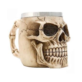 Skull Coffee Mug Large Skull Mug Resin Case Drinking Cup Stainless Steel Ghost Head Cup