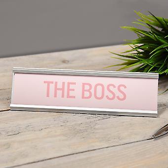 לוח השולחן הוורוד של הבוס