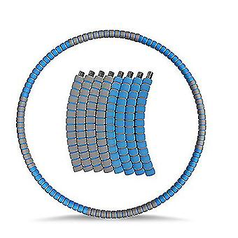 Copoz Painotettu Hula Vanne aikuisille, Laihtuminen Liikunta hula rengas ruostumattomasta (sininen harmaa)