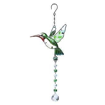 Swotgdoby Hummingbird With Crystals Ball Prisms, Hanging Crystals Ornament Decoration