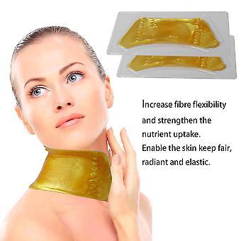 Natural Unisex Umidità Oro Maschere Collo Maschere Uso personale Cura della pelle Maschera per la cura del collo