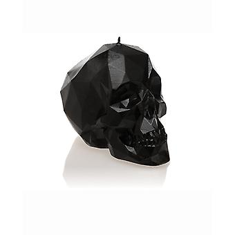 Black High Glossy Small Low Poly Skull
