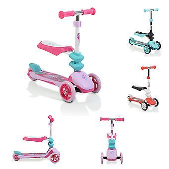 Byox barne scooter Epic 2 i 1, scooter & pumpehjul, 3 PU felger, sammenleggbar, fra 3 J