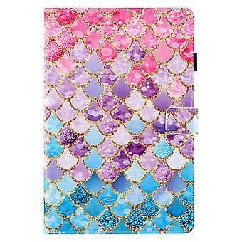 Case For Samsung Galaxy Tab S6 Lite Cover Auto Sleep/wake Rotating Multi-angle Viewing Folio Stand - Color Fish Scales